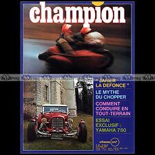 CHAMPION N°86 YAMAHA TX 750 FORD 32 JACQUES KROUTO J-P JARIER MONTE-CARLO 1973