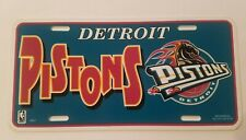 Vintage Sports License Plate Tag 1990s Detroit Pistons NBA