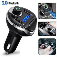 Bluetooth Car FM Transmitter Radio Adapter MP3 USB Charger For IOS Android Phone
