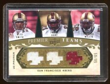 2008 UD 49ERS TRIPLE GAME JERSEY /65 GOLD ALEX SMITH-FRANK GORE-PATRICK WILLIS