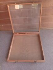 Wood Glass Display Case 24 X 24 X 3 Overall