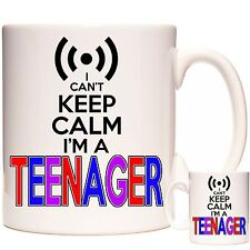 TEENAGER GIFT MUG I Can't Keep Calm I'm A Teenager Coaster & Keyring Available.