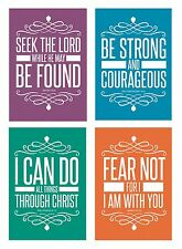 Christian Assorted POSTCARDS (32 Pack) Religious Bible Quotes Scripture 4x6