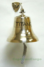"TITANIC Solid Brass Ships Bell 8"" Nautical Marine Hanging Wall Decor New"
