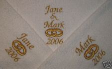 PERSONALISED TOWEL SET. BRIDE & GROOM WEDDING GIFT