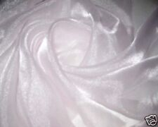 "PALE PINK 60"" SPARKLE SHEER ORGANZA FABRIC WEDDING DRAPE CRAFT BRIDAL 60""W BTY"