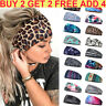 Women Wide Elastic Turban Head Wraps HeadBands Boho Sports  Yoga Hair Bands AU