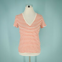 Madewell Size Extra Small XS Theresa T-shirt Striped Persimmon Pullover Tee NWT