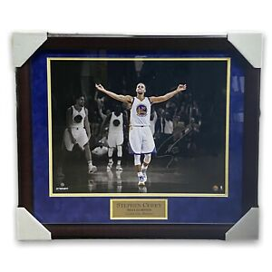 Stephen Curry Autographed Signed Photo Custom Framed To 20x24 Warriors Steiner