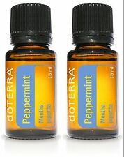 doTERRA Peppermint 15ml Essential Oils - 2 Bottles New Sealed FREE SHIPPING