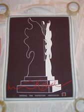 1981 National Fire Protection Association Poster Dennis Kowel Signed #'d nfpa