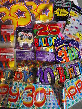 30Th Birthday Party Pack Flags Balloons Banners Badge Mens / Ladies 30Th Party