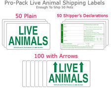 Live Animal Shipping Labels ( 50 SETs-200 Labels total) Pro Pack