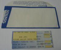 Vintage 1989 Bon Jovi Concert Ticket Stub Alpine Valley FREE Ship Ticketron Jon