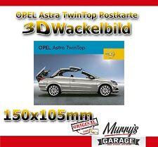 Original Opel Astra H Twin Top 3D Wackelbild Postkarte - 3D Postcard