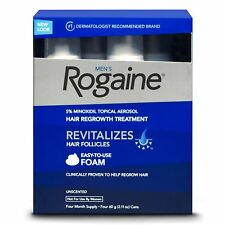 4-month Supply Rogaine Hair Regrowth for Men 5% Minoxidil Topical Foam Exp:02/20