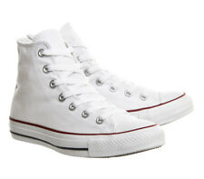 YOUTHS OLDER BOYS/GIRLS CONVERSE CHUCK TAYLOR ALL STAR HI TOPS - UK 2 - WHITE.