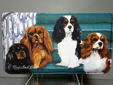Cavalier King Charles Dog Check Book Wallet 4 Dogs (No Zipper) Ruth Maystead