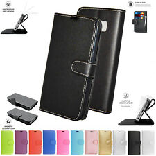 """PU Leather Book Wallet Card Flip Stand Case Cover Pouch For Alcatel A3 XL 6"""""""