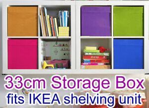 ツ-- 33cm Foldable Folding Storage Cube Storage Box Bookcase Fabric Cube Toy-