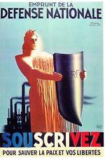WW2 - Photo affiche vichyste 1940 - Emprunt de la Défense nationale