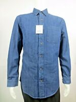 Croft & Barrow Men's Classic-Fit Blue Denim & Twill Long Sleeve Small Shirt