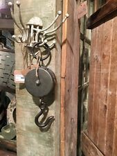 Pulley Decorative Antique Reproduction Metal Vintage Industrial