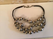M & S silver bead necklace