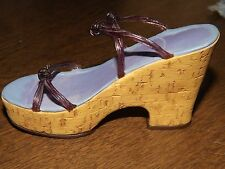 Vintage Just The Right Shoe Cork Wedge #25093 Raine Willits 1999 Collectible