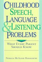 Childhood Speech, Language, and Listening Problems