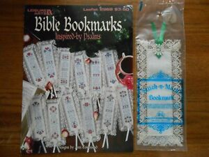 18 ct bookmark with lace aida cloth
