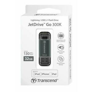 Transcend Jetdrive Go 300K 32GB Dual Connector Pour Ipod IPHONE IPAD