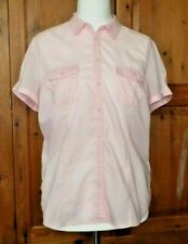 smart fitted shirt blouse size 16 pink white candy stripes pocket BNWOT