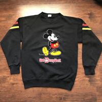Vintage Walt Disney World Mickey Mouse Crewneck Sweatshirt Sweater Large