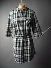 Plaid Check School Girl Work Career Women Cotton Shirt 159 mv Dress XL 1XL 2XL