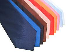 Clásico Seda Corbata Negro Blanco Rojo Azul Liso elección 23 Colores