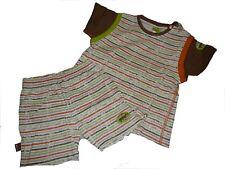 Bondi tolle Kombi Gr. 86 T-Shirt + Shorts braun-orange geringelt !!