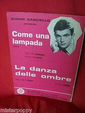 GIANNI CASCIELLO Come una lampada + La danza delle ombre 1969 Spartiti