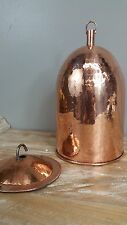 Copper Pendant Lightshade - Polished Beaten Genuine Copper Light Shade Fitting