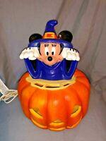 Disney Mickey Mouse Sorcerer Halloween JOL Pumpkin light Blow mold Yard decor