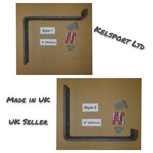 Heavy Duty Steel Scaffold Board Rustic Shelf Brackets 203mm 8inch Made in UK