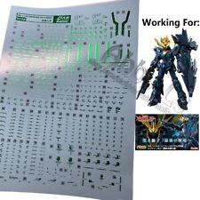 Water Decal for RG 1/144 Unicorn Gundam 02 Banshee Norn ver Final Battle RX-0[N]