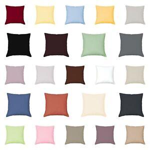 Mako Satin Kissenbezug 60 x 60 cm Reißverschluss Hotelverschluss 100%Baumwolle