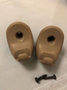 1999-06 OEM Chevy Silverado GMC Sierra Tan Beige Brown visor clips (2) RARE