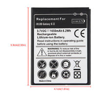 Generic 3.7V 1650mah Replacement Battery for Samsung Galaxy S2 i9100 GT-i9100