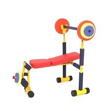 Redmon Fun and Fitness Exercise Equipment for Kids - Weight Bench Set New