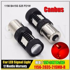 1156 BA15S 5050 Red CANBUS OBC Error Free 21 SMD Brake Tail Car LED Light Bulb