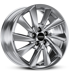 Pack Jantes  Ronal, R70. 7.5x18 ET35 5x114.3 82.0, platinum silber