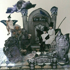 altered art mixed media Halloween Cemetary Poe tombstone raven ghoulish children