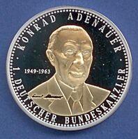 Medaille Konrad Adenauer 1. Deutscher Bundeskanzler veredelt Ø 40 mm B97